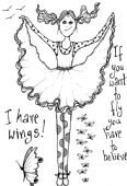 Lindsay Mason Designs - I Can Fly – Clear Stamp - CICSA6062